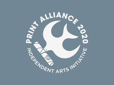 print alliance 2020 lines n shapes very good wow cool half and half arts initiative print alliance poster tube bird logo