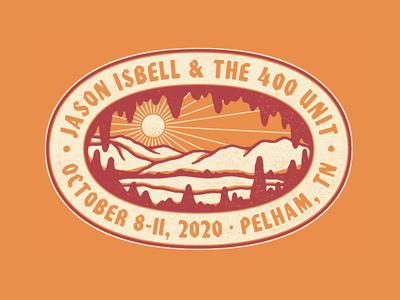 isbell in a cave in a cave hell yea shirt graphic badge natural nature tennessee cave jason isbell logo illustration
