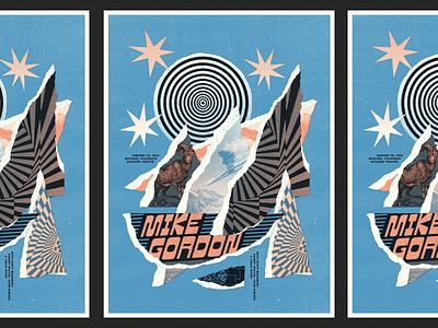 Mike Gordon Poster poster flatiron landscape boulder mike gordon phish collage illustration gig poster