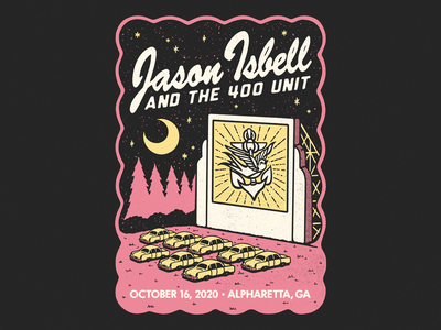 Isbell drive-in 400 unit jason isbell movie theater retro drive in shirt graphic logo illustration