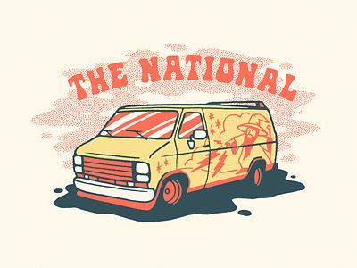 The National national bitchin retro magic shirt graphic illustration vannin van wizard the national