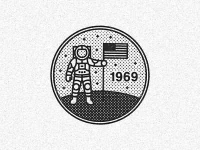 July 20, 1969  daily history illustration icon space nasa apollo buzz aldrin neil armstrong moon landing
