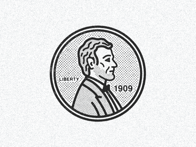 August 2, 1909  daily history illustration icon currency penny lincoln