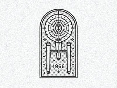 September 8, 1966 daily history illustration icon trekkie spacecraft space sci fi ncc 1701 uss enterprise star trek
