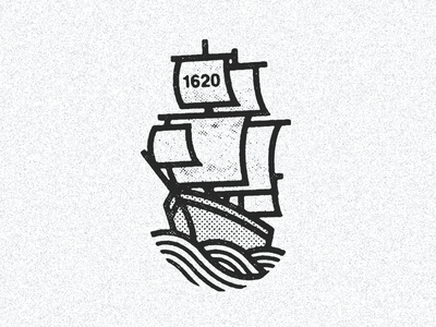 September 16, 1620 daily history illustration icon pirates mayflower pilgrims boat ship