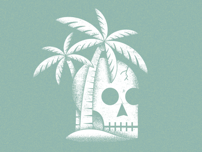 Dead Daze cool icon illustration bitchin tropical skull island island skull
