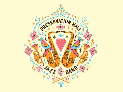P H J B  putabirdonit new orleans preservation hall jazz band jazz trumpet sax phjb
