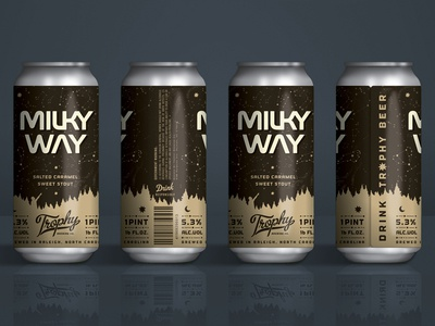 Trophy Brewing Co. - Milky Way raleigh space nasa packaging design state of beer trophy brewing co stout beer