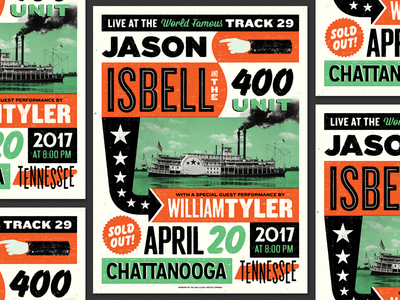 Isbell Chattanooga illustration type design riverboat tennessee country music chattanooga jason isbell