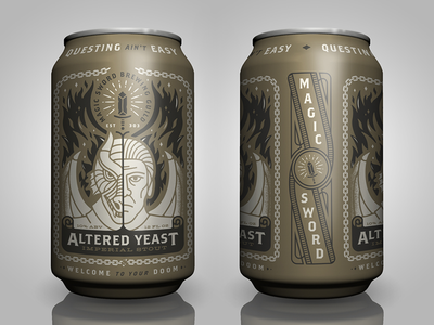 Altered Yeast king gizzard sega dragon illustration brewery beer can beer