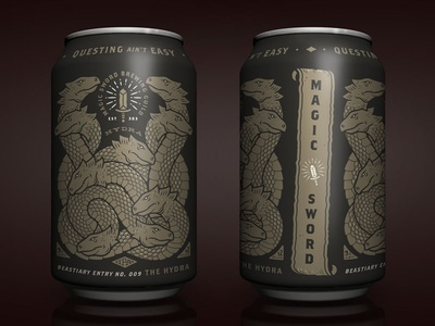 The Hydra monster hydra packaging magic label fantasy can brewing branding beer adobe