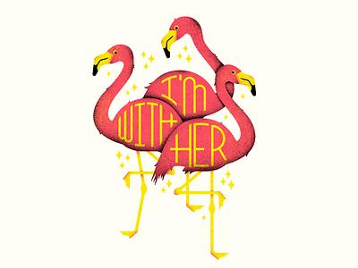 flamingo triplets issa bird americana merch im with her birds flamingos