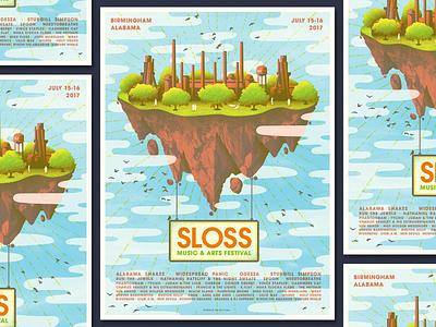 Sloss Festival 2k17 alabama birmingham sloss sloss festival festival gig poster illustration