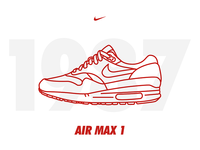 Air Max 1987 air max illustration stroke outline draw pictogram icon