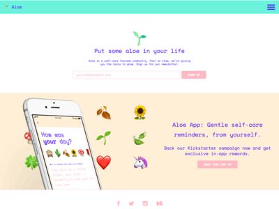 aloe website refresh layout development design aloe