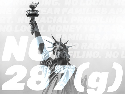 LAJC 287(g) Protest Posters ice immigration protest poster lajc culpeper 287(g)