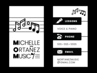 Music Instructor Business Card