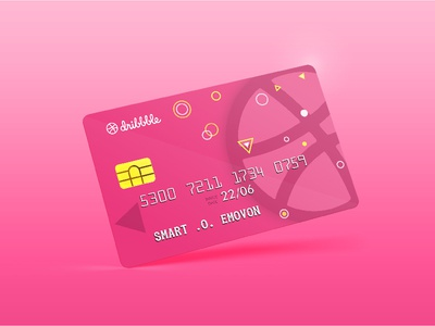 Dribbble Access Card Mockup