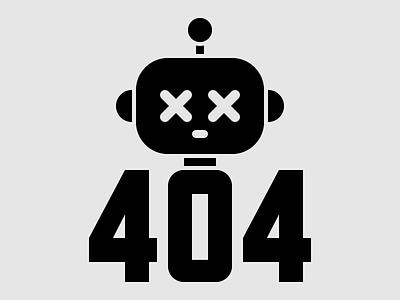404 typography type shapes robots robot internet illustrator illustration icon design icon graphic design graphic art geometry geometric design artwork art 404
