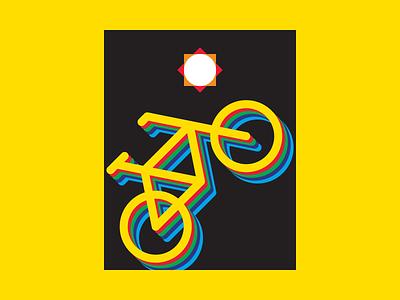 Colour Balance sun shapes light illustrator illustration graphic design graphic art geometry geometric design colours colour colors color bikes bike bicycle artwork art