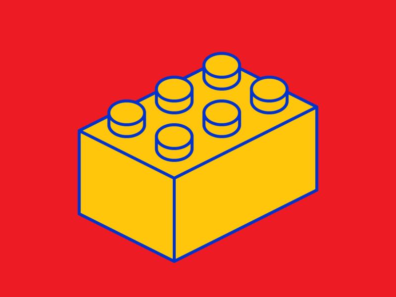 Building Block yellow toys toy simple shapes red minimalism lego illustration graphic design geometry geometric design colour color brick blocks block artwork art