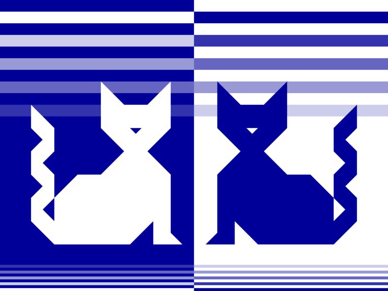 Double Lives vector shapes pets pet pattern night illustration graphic design geometry geometric flat design concept cats cat blue artwork art animals animal