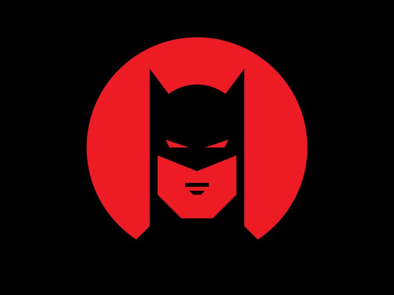 Batman portrait shapes fanart fan art bruce wayne red superhero dc comics dc batman icon vector illustration flat geometry geometric graphic design design artwork art
