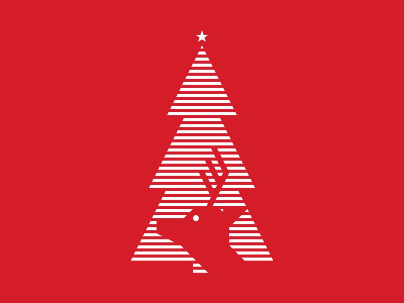 Christmas Reindeer xmas winter vector tree shapes reindeer pattern illustration iconography icon holidays graphic design geometry geometric flat design christmas artwork art
