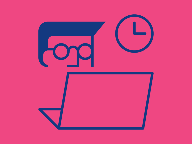 Work work vector shapes person lines line laptop illustration iconography icon graphic design geometry geometric flat employment design computer clock artwork art