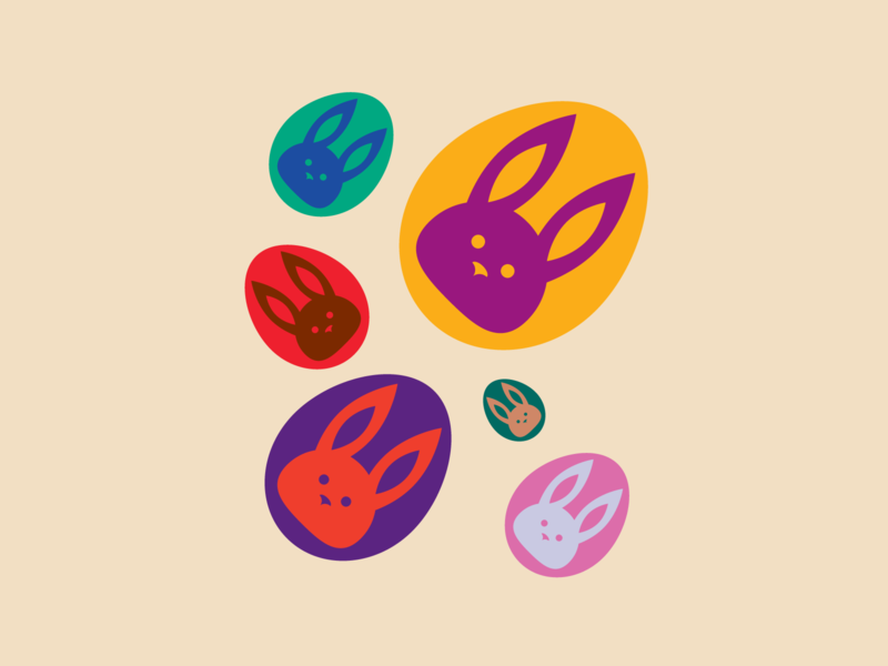 Easter Eggs treats vector shapes illustration iconography icon holidays graphic design geometry geometric flat eggs easter bunny easter design chocolate bunny bunnies artwork art