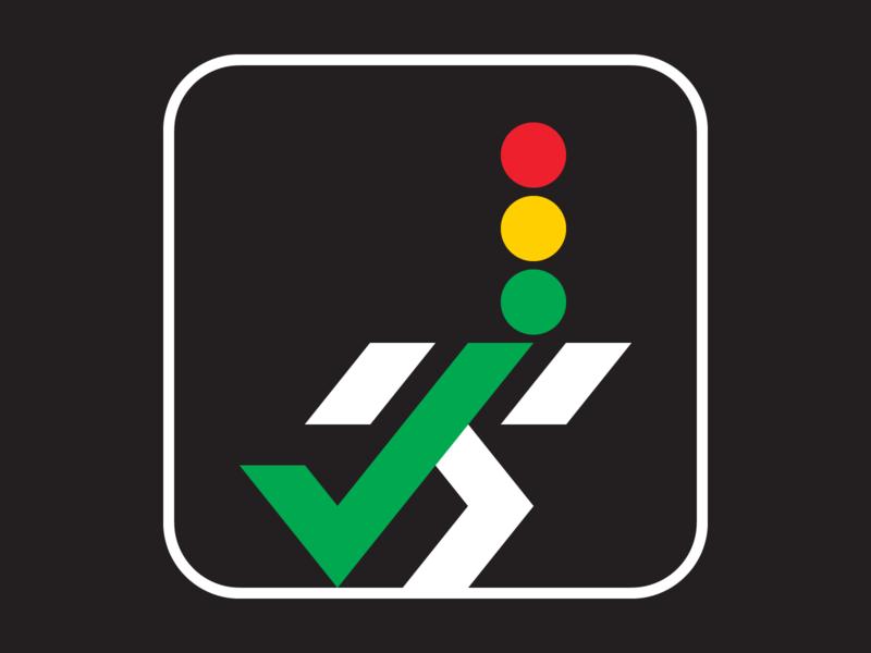 Go! vector transportation traffic shapes running pictogram lights illustration iconography icon design icon graphic design geometry geometric flat design concept checkmark artwork art