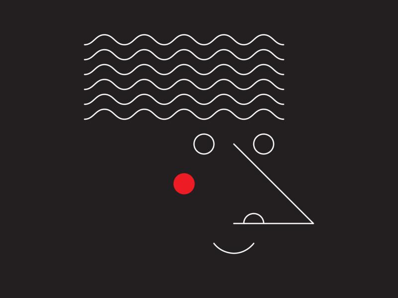 Wavy Hair waves vector smile shapes portrait patterns pattern illustrator illustration hair graphic design graphic art graphic geometry geometirc flat face design artwork art