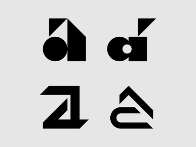 Type Exploration: Lowercase 'a' typography type design type shapes logos logo design logo letterforms illustrator illustration icons icon design graphic design geometry geometric design artwork a