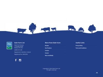 Dale Farm Website Footer