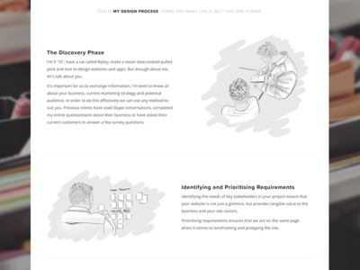 Web Design Process - Portfolio Website Shot