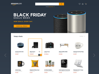 Amazon UI Design Concept - Black Friday