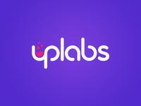 Uplabs Logo Design lowercase sans clean purple round bold flat vaporwave logo uplabs