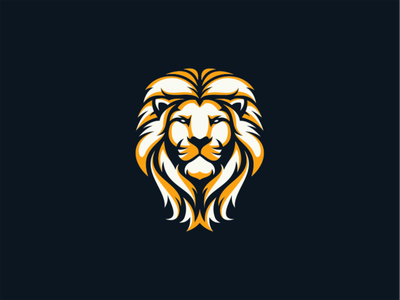 Lion flat vector mark design branding lion head logo wild king lion animal
