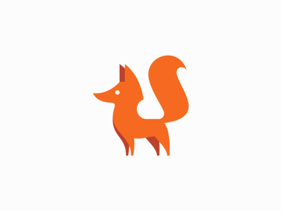 Fox flat vector mark design branding logo forest wild animal fox