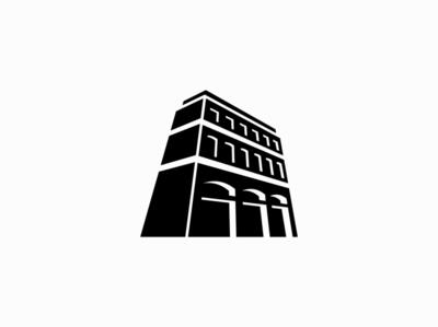 Old Building Logo for Sale construction building sale flat geometric vector mark design branding logo