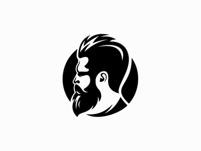 Barber Shop Logo man face beard barbershop barber illustration sale flat vector mark design branding logo