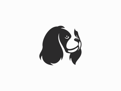 Spaniel Logo for Sale spaniel dog pet illustration sale flat animal vector mark design branding logo