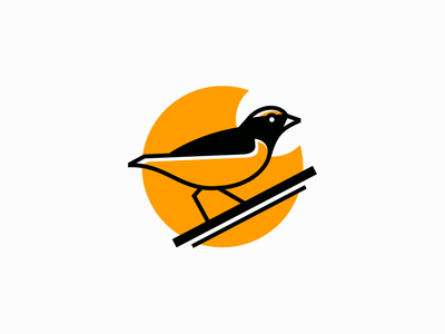Bird Logo modern elegant clean premium yellow professional simple minimalism brand bird lines illustration flat geometric animal vector mark design branding logo