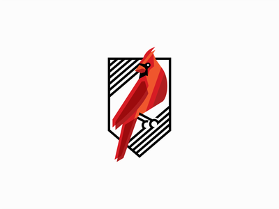 Cardinal Bird Logo for Sale creative elegant emblem brand vibrant clean premium modern red cardinal bird illustration sale geometric animal vector mark design branding logo