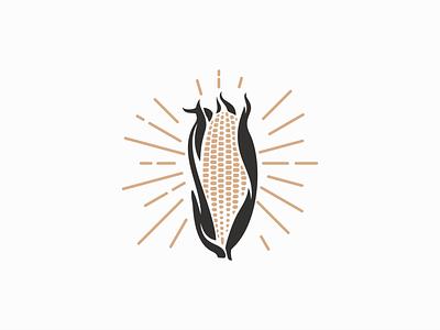 Vintage Corn Logo for Sale vegetables icon emblem graphic agriculture farm retro vintage corn professional premium illustration flat sale vector mark design branding logo