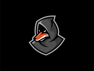Fox In Hoodie Logo for Sale orange graphic emblem clean fun urban hoodie fox modern illustration flat sale animal vector mark design branding logo