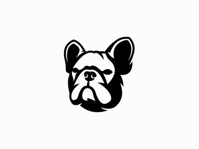 French Bulldog Logo for Sale emblem graphic puppy pet french bulldog frenchie dog modern illustration sale geometric animal vector mark design branding logo