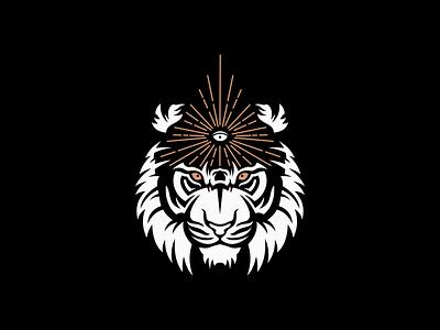 Third Eye Tiger Logo for Sale mental graphic icon emblem consciousness yoga spirituality eye third eye tiger premium modern illustration sale animal vector mark design branding logo
