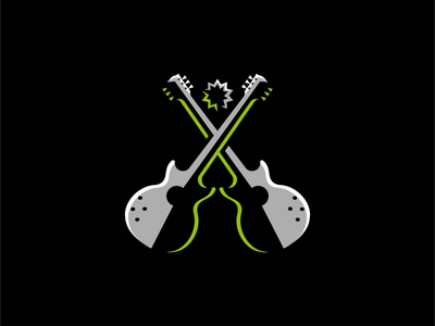 Guitars Logo for Sale graphic instrument string premium icon emblem rock music guitars guitar modern flat geometric sale illustration vector mark design branding logo