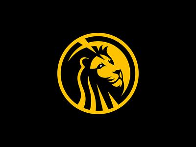 Lion Logo for Sale icon emblem sale geometric graphic design circular modern premium king wild cat lion illustration animal vector mark design branding logo